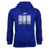 Royal Fleece Hoodie-2017 Mens Basketball Champions Repeating