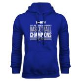 Royal Fleece Hoodie-2017 Womens Basketball Champions Stacked