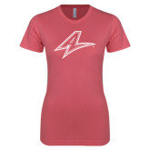 Next Level Ladies SoftStyle Junior Fitted Pink Tee-A