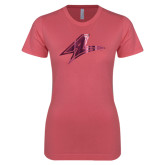 Next Level Ladies SoftStyle Junior Fitted Pink Tee-A Foil