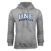 Grey Fleece Hoodie-Arched UNC Asheville