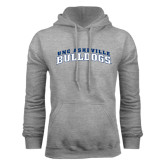 Grey Fleece Hoodie-Arched UNC Asheville Bulldogs