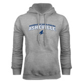 Grey Fleece Hoodie-Arched University of North Carolina Asheville Bulldogs