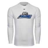 Under Armour White Long Sleeve Tech Tee-Bulldogs w/ Bulldog Head