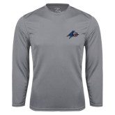 Performance Steel Longsleeve Shirt-A w/ Bulldog Head