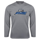 Performance Steel Longsleeve Shirt-Bulldogs w/ Bulldog Head