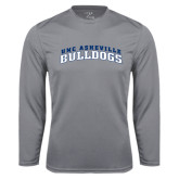 Performance Steel Longsleeve Shirt-Arched UNC Asheville Bulldogs