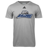 Adidas Climalite Sport Grey Ultimate Performance Tee-Bulldogs w/ Bulldog Head
