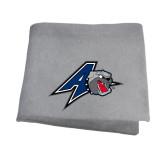 Grey Sweatshirt Blanket-A w/ Bulldog Head