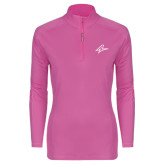 Ladies Syntrel Interlock Raspberry 1/4 Zip-A