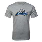 Grey T Shirt-Bulldogs w/ Bulldog Head