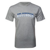 Grey T Shirt-Arched UNC Asheville Bulldogs