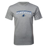 Grey T Shirt-Arched University of North Carolina Asheville Bulldogs
