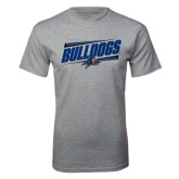Grey T Shirt-Slanted Bulldogs w/ Logo