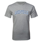 Grey T Shirt-Asheville Arched