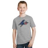 Youth Grey T-Shirt-A w/ Bulldog Head