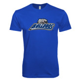 Next Level SoftStyle Royal T Shirt-Bulldogs w/ Bulldog Head