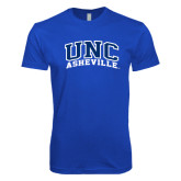 Next Level SoftStyle Royal T Shirt-Arched UNC Asheville
