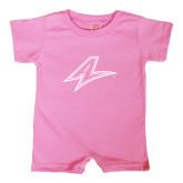 Bubble Gum Pink Infant Romper-A