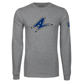 Grey Long Sleeve T Shirt-A
