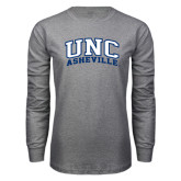 Grey Long Sleeve T Shirt-Arched UNC Asheville