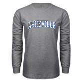 Grey Long Sleeve T Shirt-Asheville Arched
