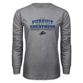Grey Long Sleeve T Shirt-The Pursuit of Greatness