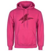 Fuchsia Fleece Hoodie-A Hot Pink Glitter