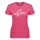 Ladies Fuchsia T Shirt-A