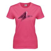 Ladies Fuchsia T Shirt-A Foil