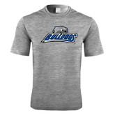 Performance Grey Heather Contender Tee-Bulldogs w/ Bulldog Head