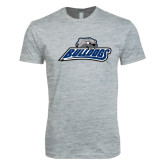 Next Level SoftStyle Heather Grey T Shirt-Bulldogs w/ Bulldog Head