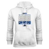 White Fleece Hoodie-2017 Mens Basketball Champions Repeating