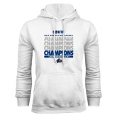 White Fleece Hoodie-2017 Womens Basketball Champions Repeating