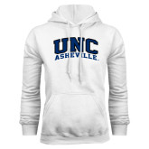 White Fleece Hoodie-Arched UNC Asheville