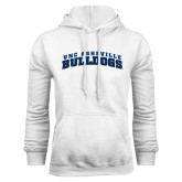 White Fleece Hoodie-Arched UNC Asheville Bulldogs