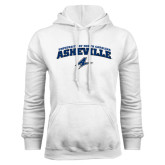 White Fleece Hoodie-Arched University of North Carolina Asheville Bulldogs