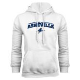 White Fleece Hoodie-Arched University of North Carolina Asheville Bulldogs