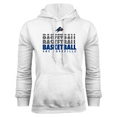 White Fleece Hoodie-UNC Asheville Basketball Repeating