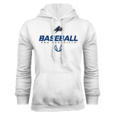 White Fleece Hood-UNC Asheville Baseball Stencil