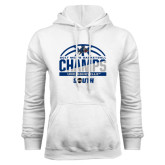 White Fleece Hoodie-2017 Mens Basketball Champions Half Ball