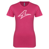Ladies SoftStyle Junior Fitted Fuchsia Tee-A