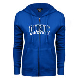 ENZA Ladies Royal Fleece Full Zip Hoodie-Arched UNC Asheville