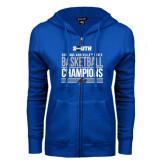 ENZA Ladies Royal Fleece Full Zip Hoodie-2017 Mens Basketball Champions Stacked
