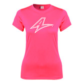 Ladies Performance Hot Pink Tee-A