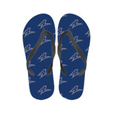 Ladies Full Color Flip Flops-A