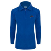 Columbia Ladies Half Zip Royal Fleece Jacket-A w/ Bulldog Head