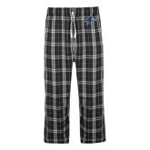 Black/Grey Flannel Pajama Pant-A