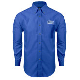 Mens Royal Oxford Long Sleeve Shirt-Arched UNC Asheville