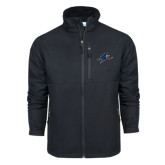 Columbia Ascender Softshell Black Jacket-A w/ Bulldog Head
